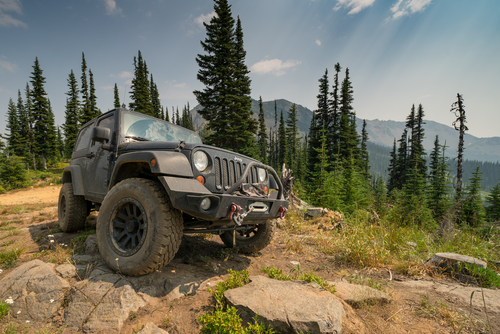 Jeep Wrangler outdoors
